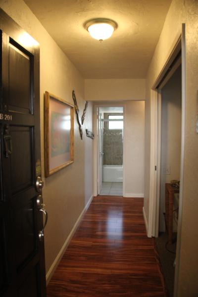 Our Kona home.  Front door entry hall.