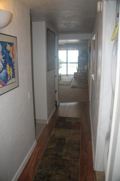 Hallway to kitchen, laundry and living space.