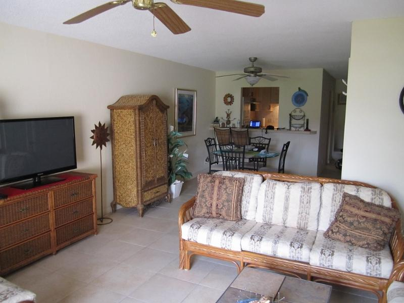 Living room , wide screen t.v.