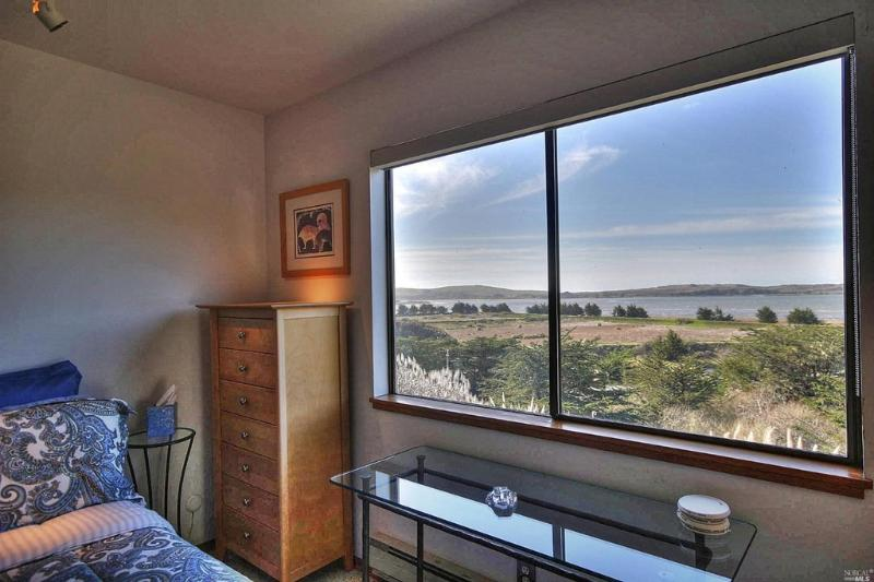 View of Bodega Bay and ocean from Master bedroom