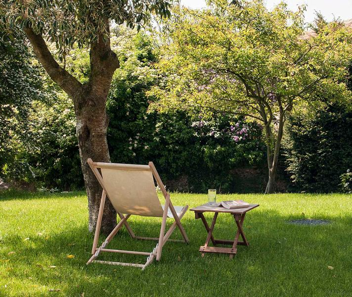 Relax under a tree in the garden.