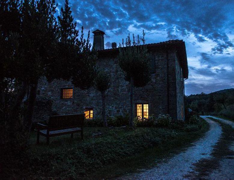 Villa Valpiana in der Nacht