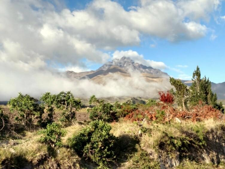 Volcano Cotacachi from Laguna Quicocha.