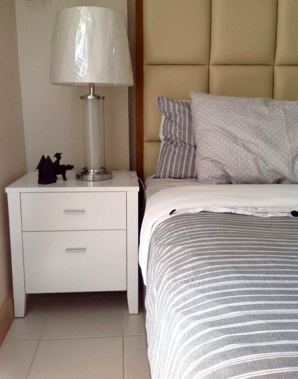 Side table with drawers for storage