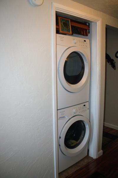 In condo laundry..