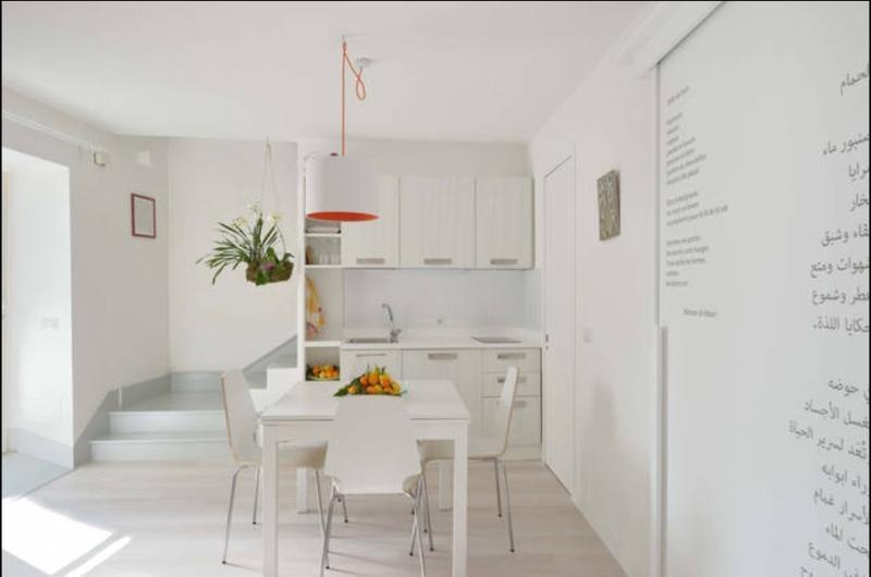 Pian terreno: cucina / soggiorno