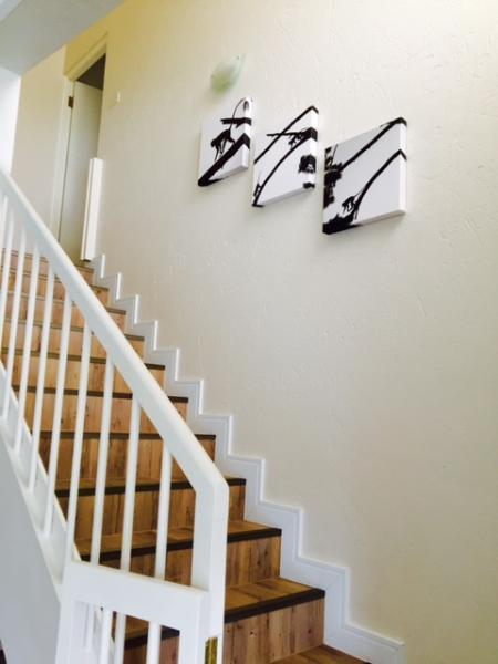 Stairway to main upstairs bedroom