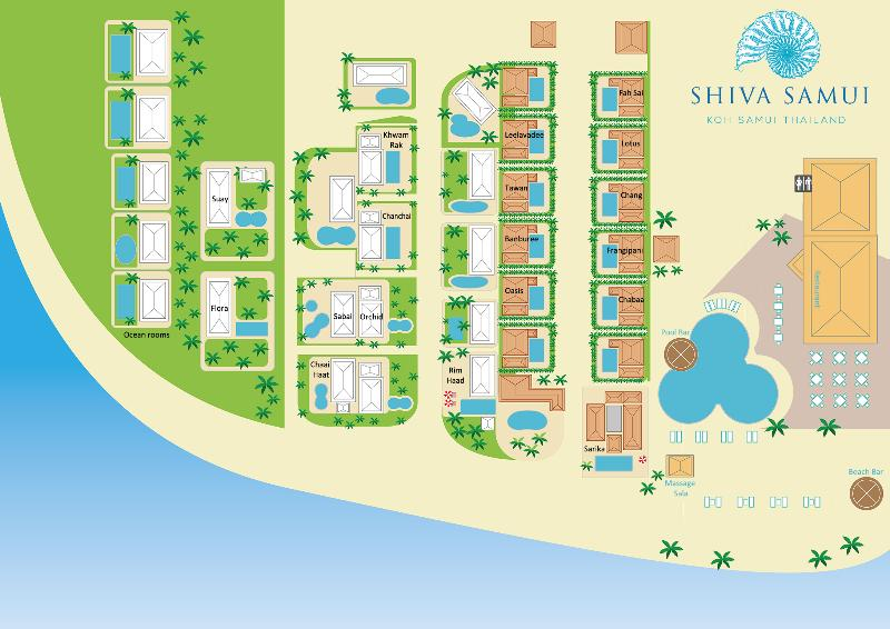 Shiva Samui Resort Map