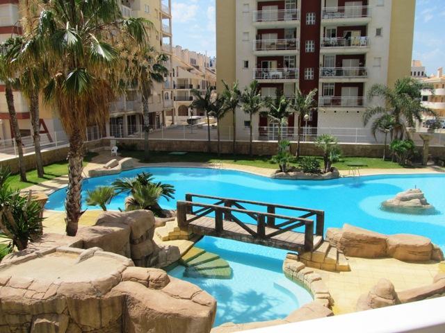 Las Gondolas spectacular themed communal swimming pool