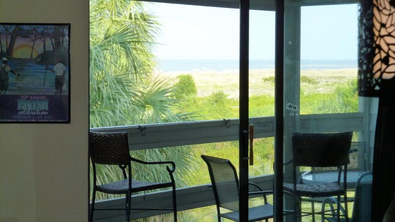 Enjoy the sounds, sights and ocean breeze from your balcony!