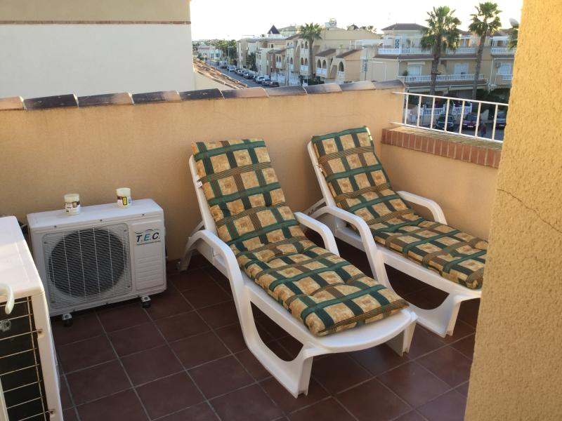 Sun loungers on the private sun terrace/solarium