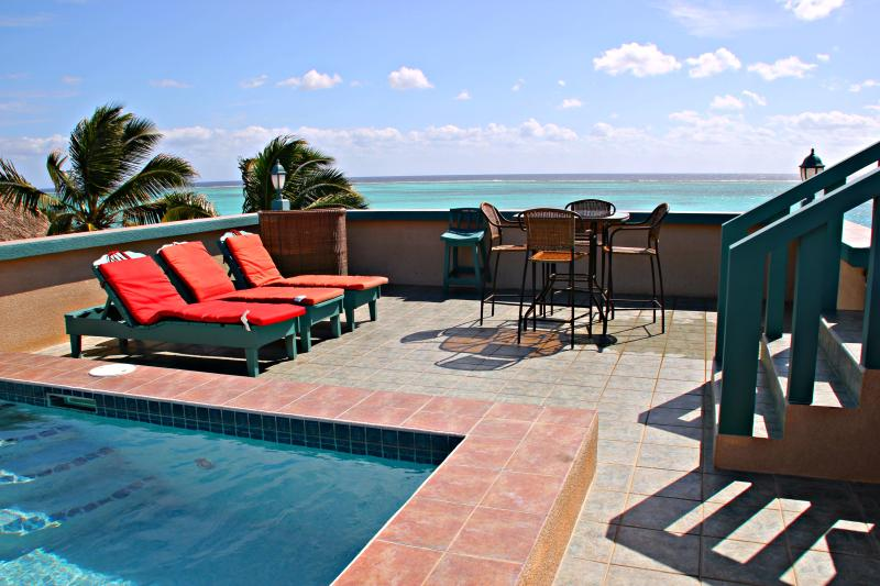 Rooftop Pool and Patio with a Spectacular View of the Caribbean Sea