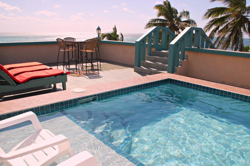 Rooftop Pool and Patio with Spectacular View of the Caribbean Sea.