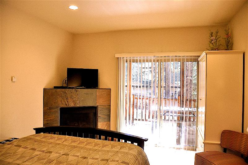 Suite 3 (semi-master bedroom) also includes a personal porch and warm fireplace