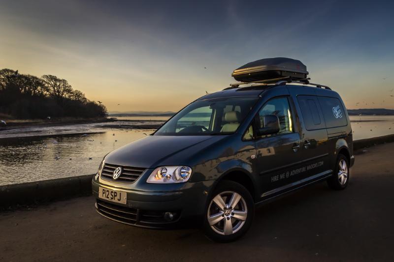 Adventure Wagons VW Caddy Camper Van Hire, holiday rental in Danderhall