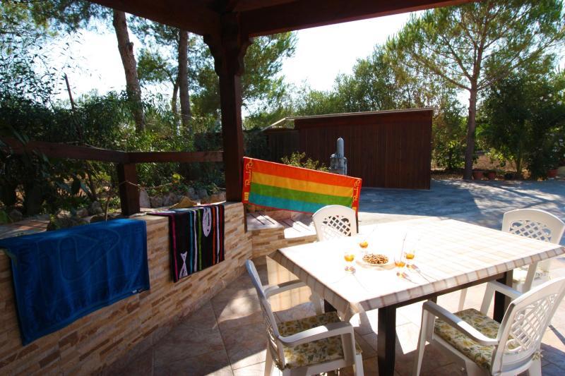 Cotriero Pineta Red House, holiday rental in Marina di Mancaversa