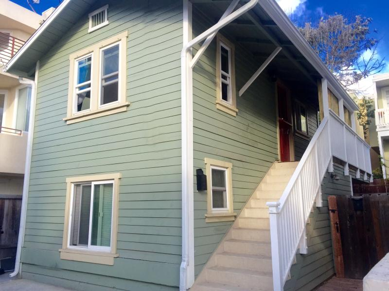 We are the upper unit in a nearly 100-year old duplex!