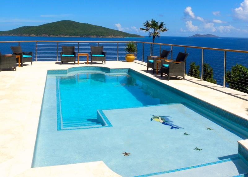 Ocean Front Luxury Villa W Swimming Pool/Jacuzzi, holiday rental in Magens Bay