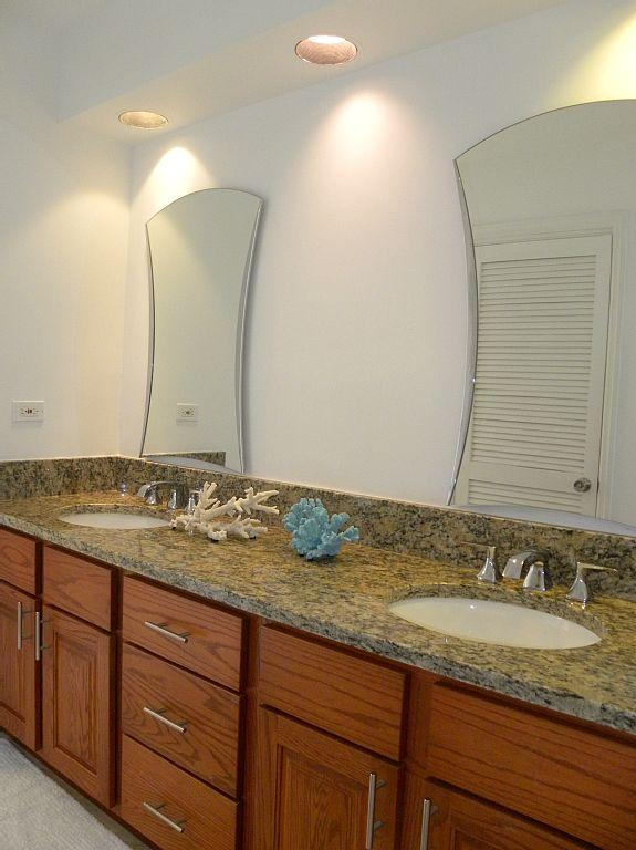 Master Bedroom Bath features a shower with views overlooking the Atlantic.