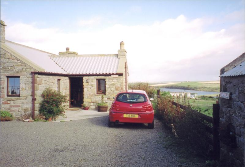 The Cottage where you can stay, overlooking  Scapa Flow