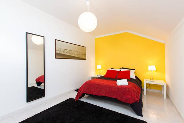 Bedroom with double bed view