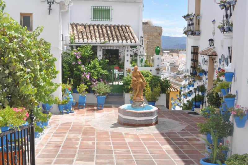 Patio de las Comedias...a good spot for tapas and views at the top of nearby Iznajar