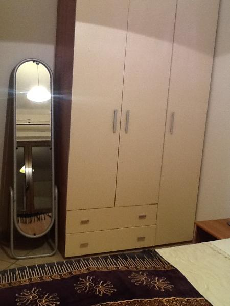 Double wardrobe and full length mirror