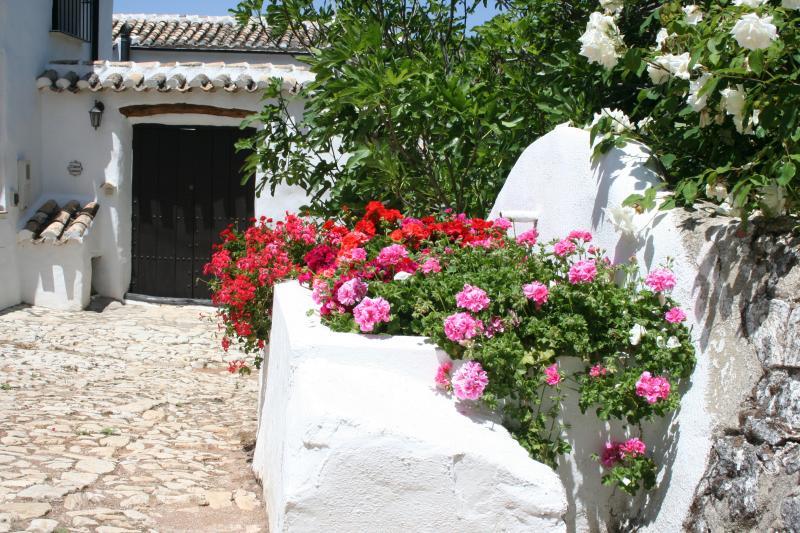 Cobbled entrance to Cortijo las Rosas