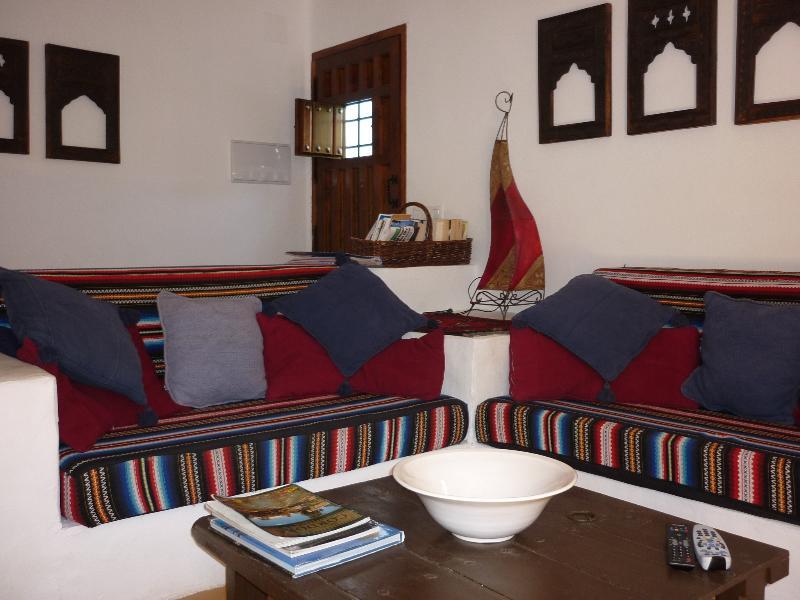 Moorish seating in Casita Perdiz