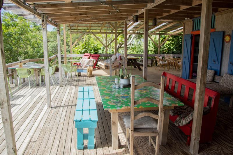 Casa Grande deck can comfortably seat many people