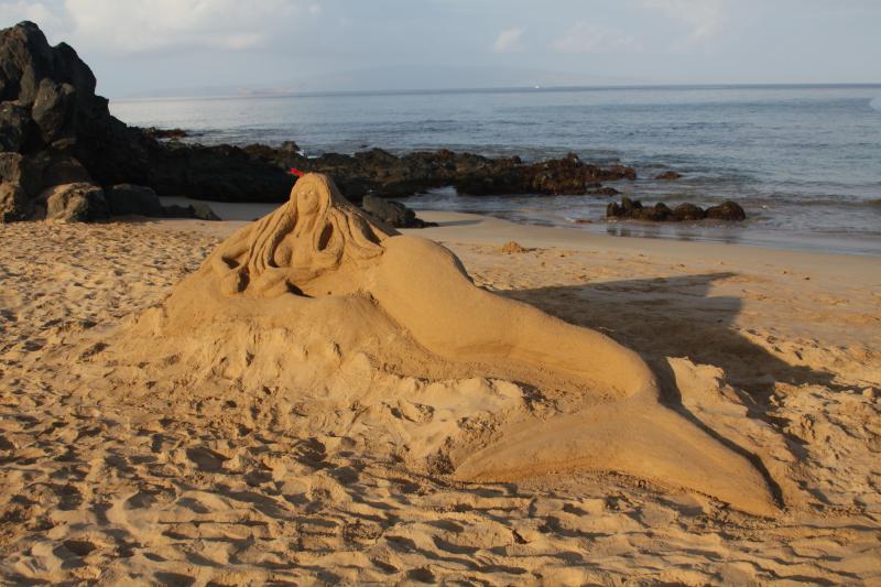 Mermaid sand sculpture