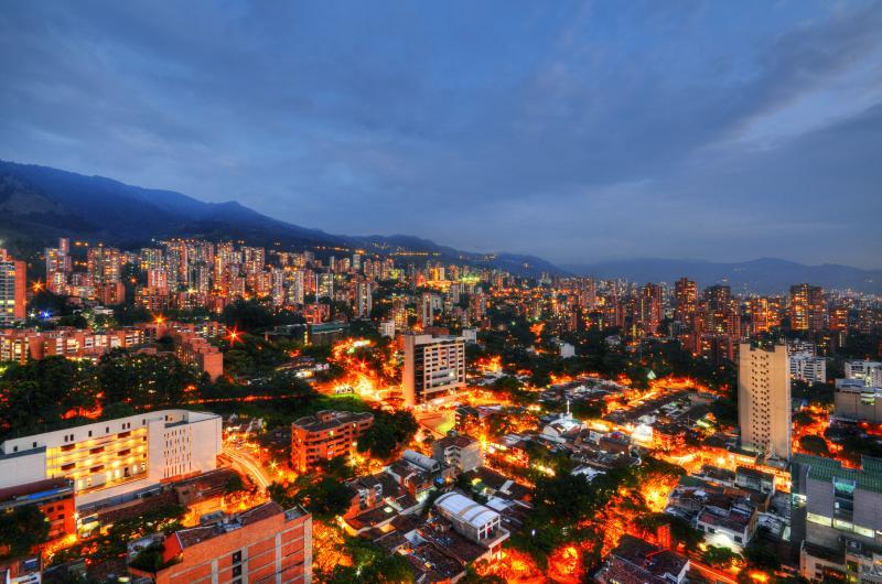 Breath taking view of Medellin.