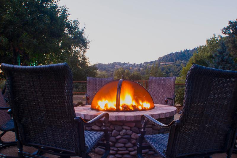 Fire pit at Riverstone Ranch