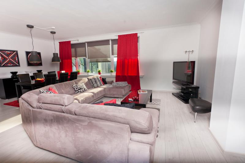 Spacious living and dining! 45m5 with a flatscreen tv and dvd player
