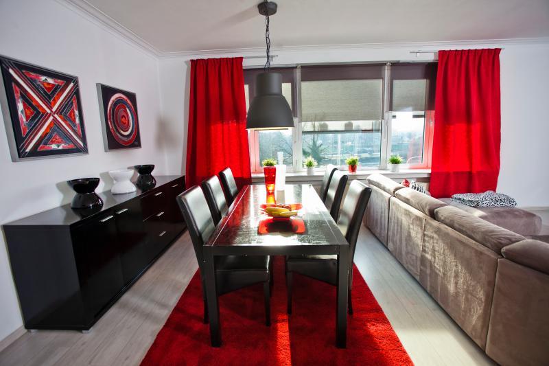 Spacious dining area,