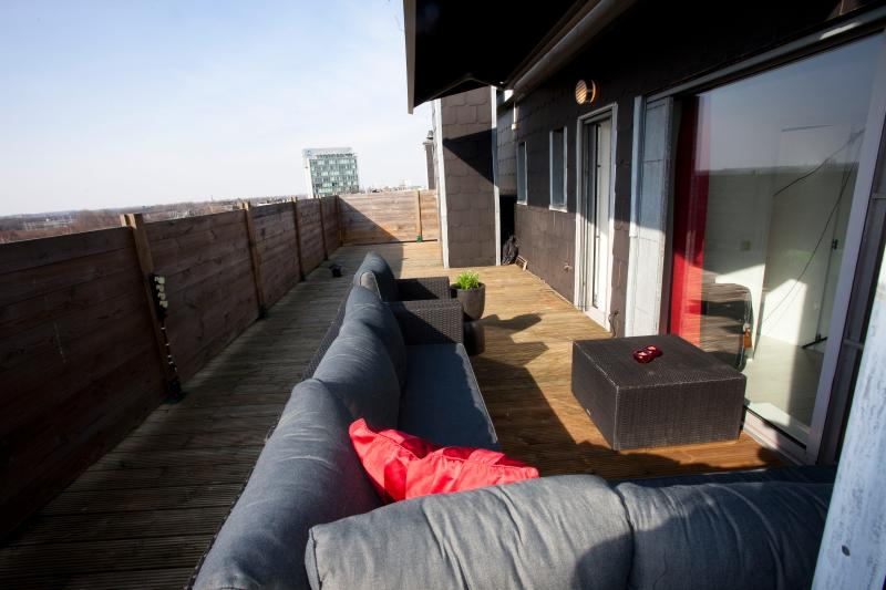 Lovely terras!!! With a view over Antwerp!