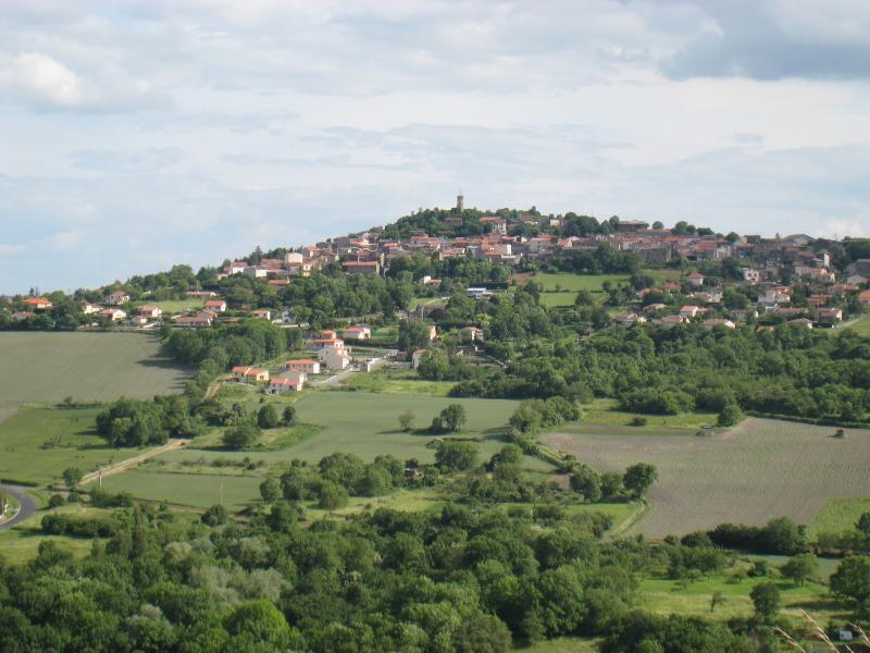 Le village du Crest que l'on peut voir du logement
