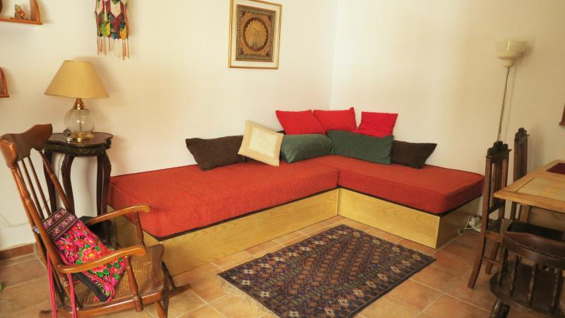 The sofas are two full size real single beds.
