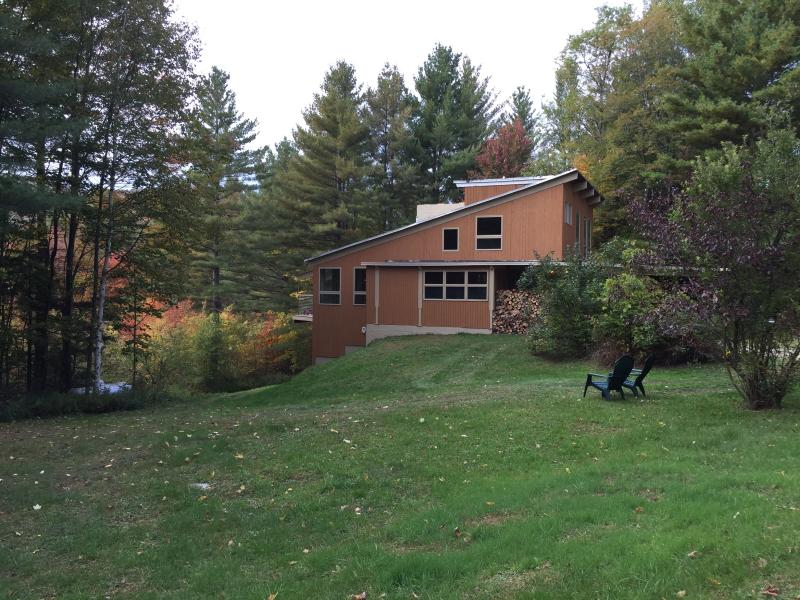 Crossett Hill Lodge with large yard on 12 private acres.