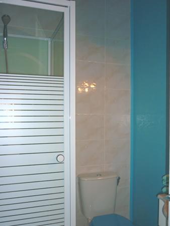 salle de bain douche,wc privatif,vasque,rangements