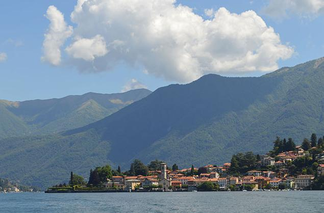 Torno village from the local Lake Ferry