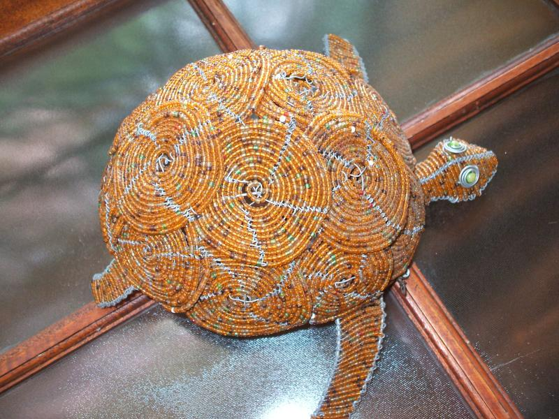 Umlilo-Beaded Tortoise A friend thought we needed one