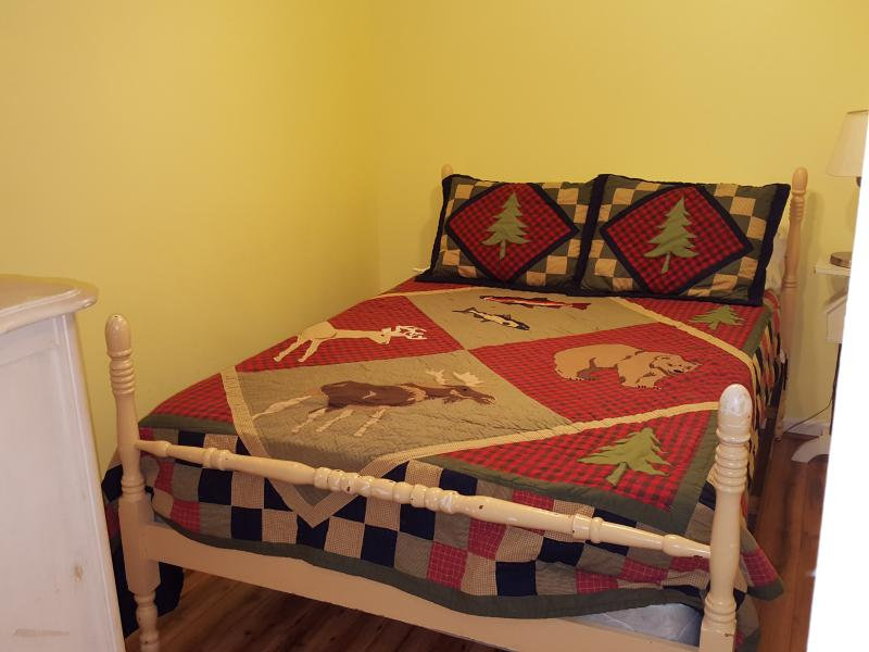 Guest bedroom with full size bed