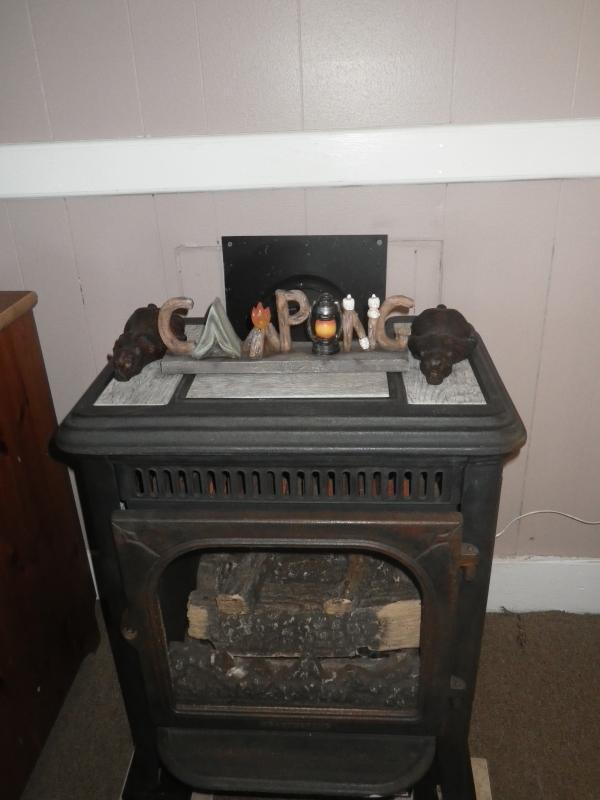 gas fireplace in bedroom