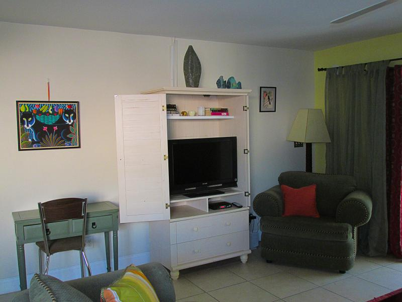 TV with provided cable access