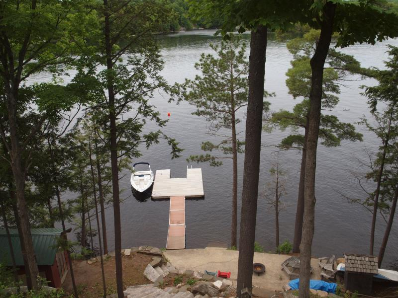 View of the Dock Area from the cottage deck.