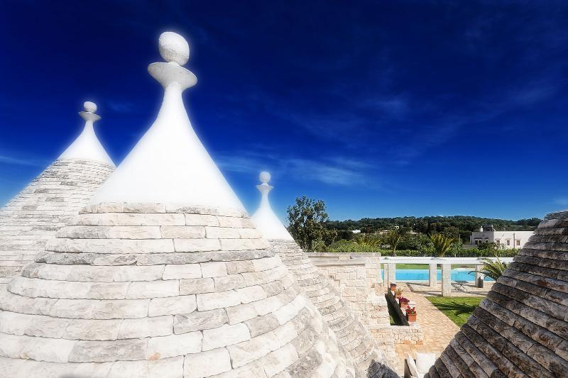 Our trulli are surrounded by a large garden with pool, for an authentic experience in Puglia