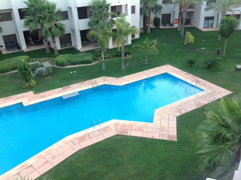View of the pool from solarium