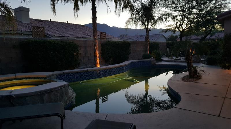 Majestic salt water pool residence overlooking beautiful mountains only 2 miles from Coachella fest