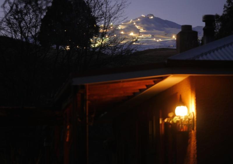 View of Coronet Peak night skiing - a Queenstown 'must do'
